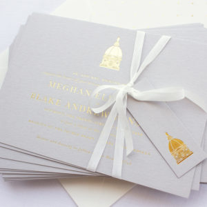 Invitations for Notre Dame Wedding | Golden Dome