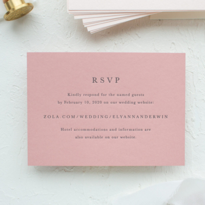 Wedding website online RSVP card
