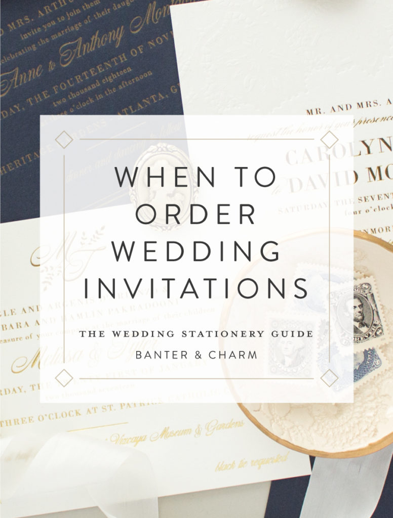 when to order wedding invitations the wedding stationery