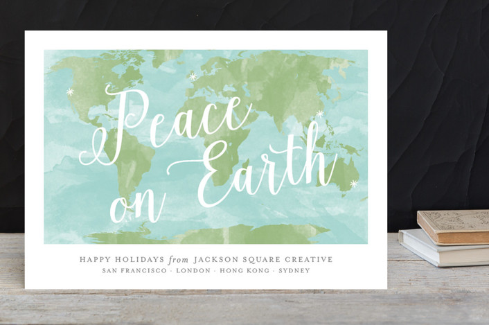 corporate greeting card for minted