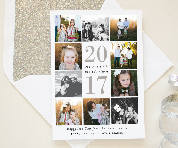 square photo holiday cards