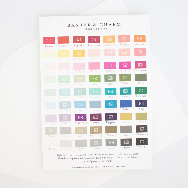 wedding invitation ink colors