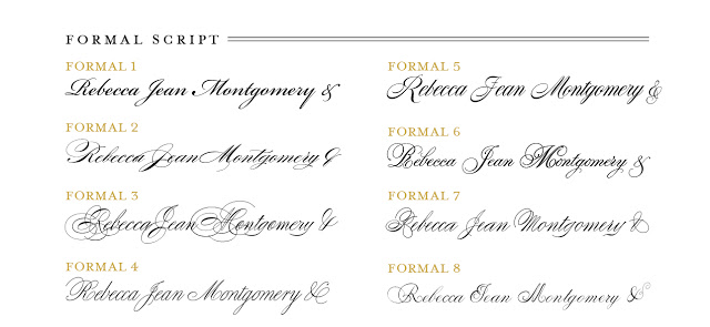 Wedding Stationery Guide: Fonts, Part I - Banter and Charm
