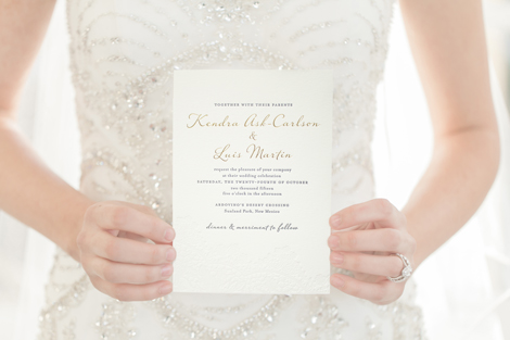 foil stamp wedding invitation