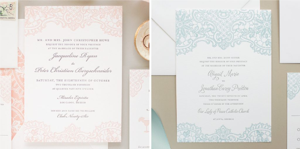 invitation in different colors