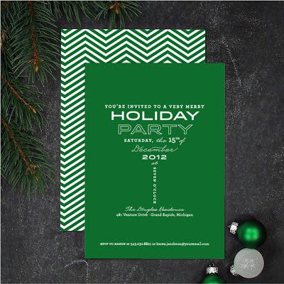 martini party invitation, holiday invite, cocktail party invitation