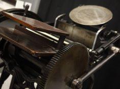 vintage letterpress printing press