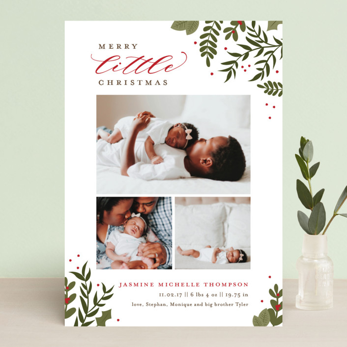 Birth Announcement Christmas Cards | 2017 Holiday Collection