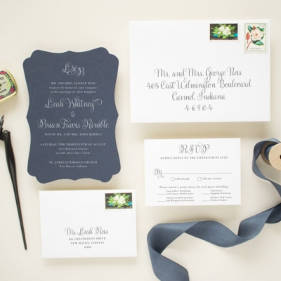 Die cut wedding invitation