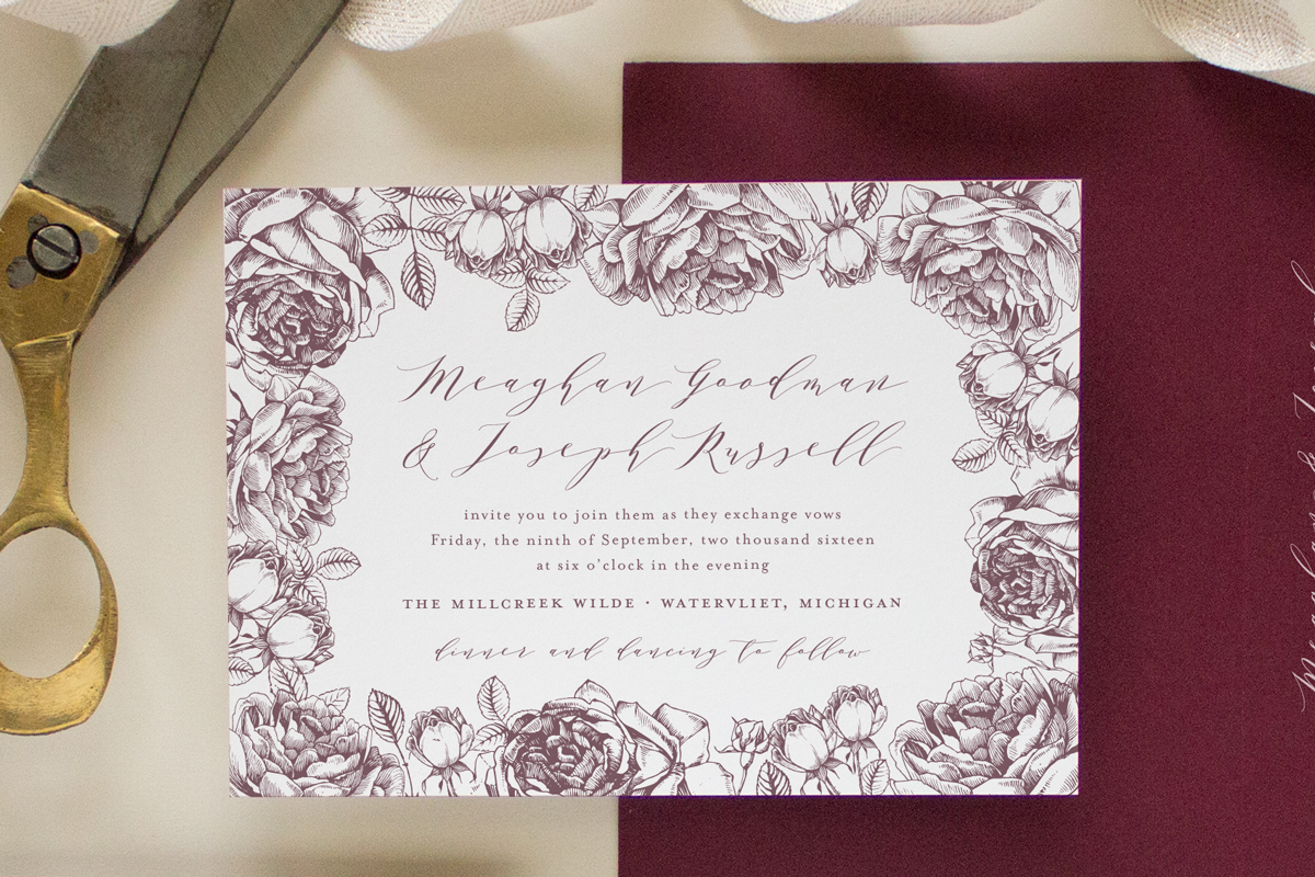 When To Mail Wedding Invitations Emily Post: Custom Wedding Invitations