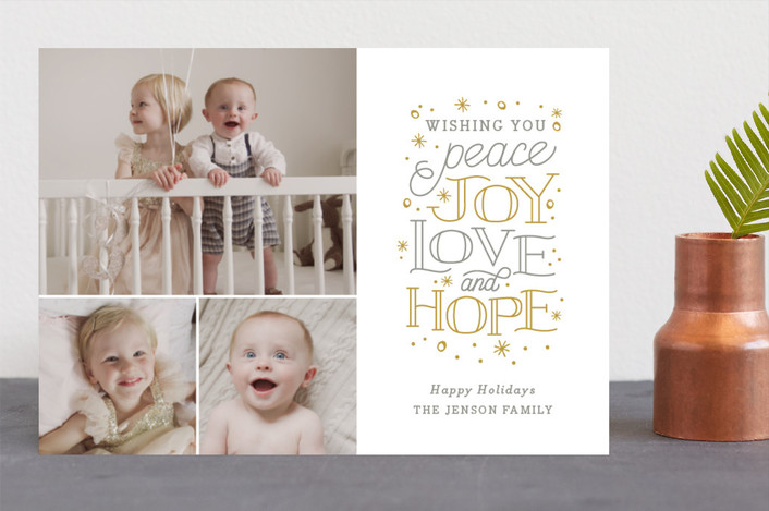 Typographic Christmas Cards | 2017 Holiday Collection