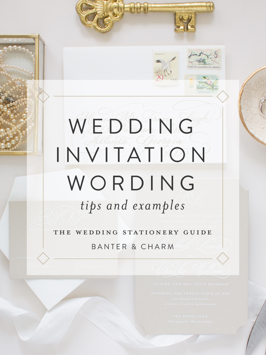 Wedding Stationery Guide: Wedding Invitation Wording Samples ...