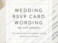 sample rsvp card wording