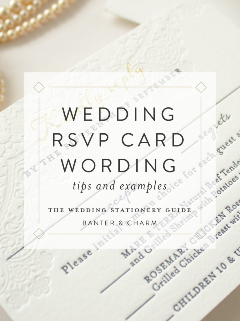 sample rsvp card wording