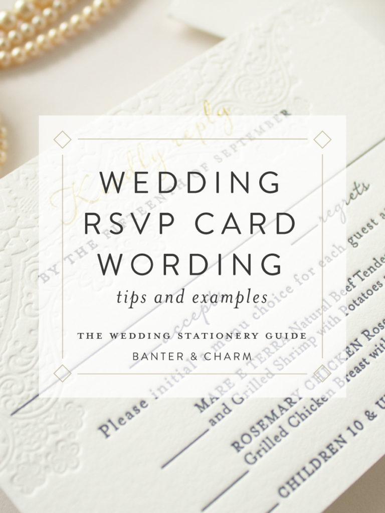wedding stationery guide  rsvp card wording samples