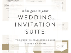 The pieces that make up your wedding invitation suite