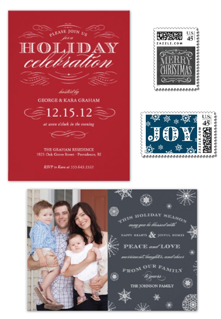 holiday postage, invitations, photo cards